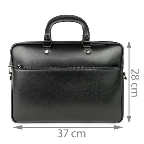 Geanta piele neagra tip servieta GF746
