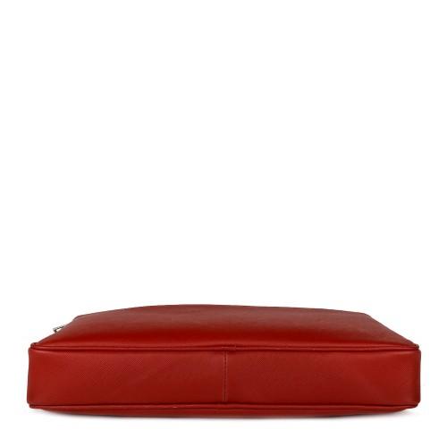 Geanta piele rosie tip servieta GF748