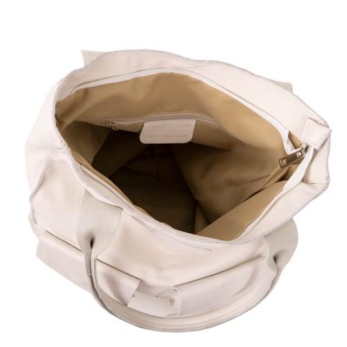 Geanta piele alb-unt GF750