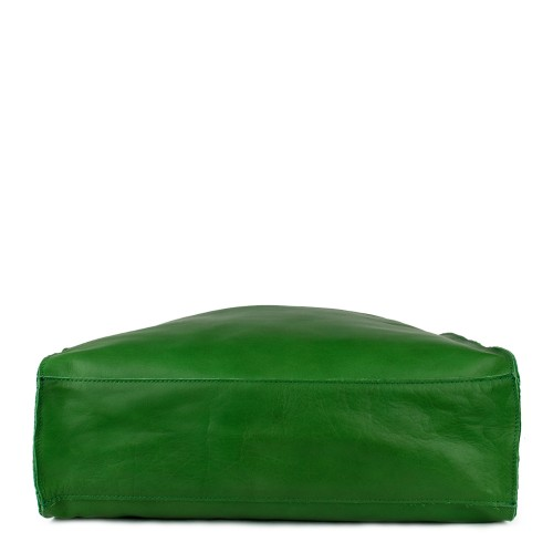 Geanta piele verde GF752