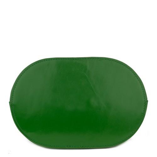 Geanta piele verde GF756