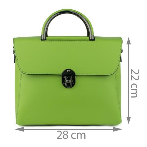 Geanta piele verde deschis GF763