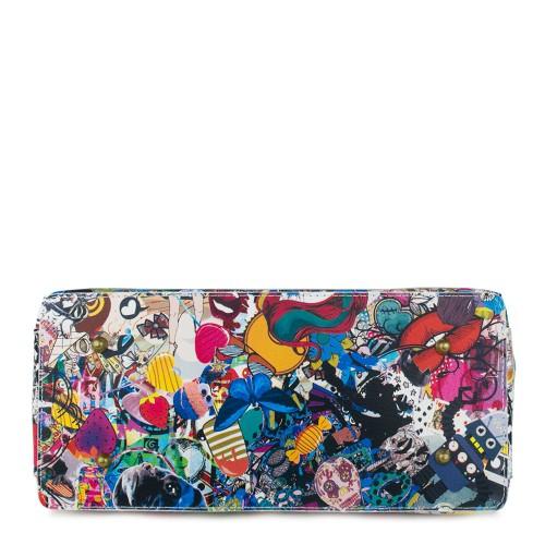 Geanta piele multicolora cu imprimeu GF766