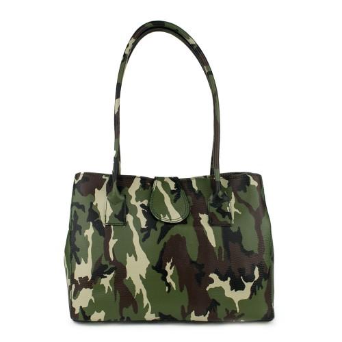 Geanta piele imprimeu camuflaj/ army GF767 Genti Femei
