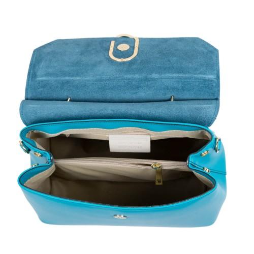 Geanta piele bleu turcoaz GF772