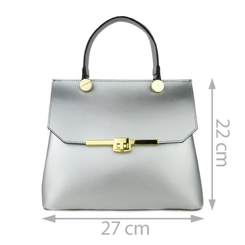 Geanta piele argintie GF774 - Genti femei
