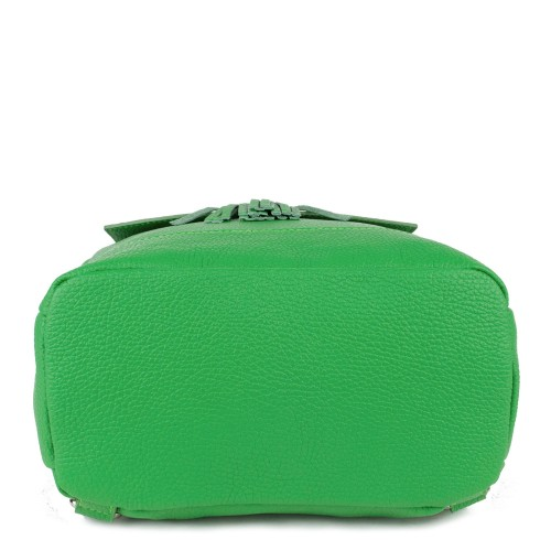 Rucsac piele verde deschis cu ciucuri GF779