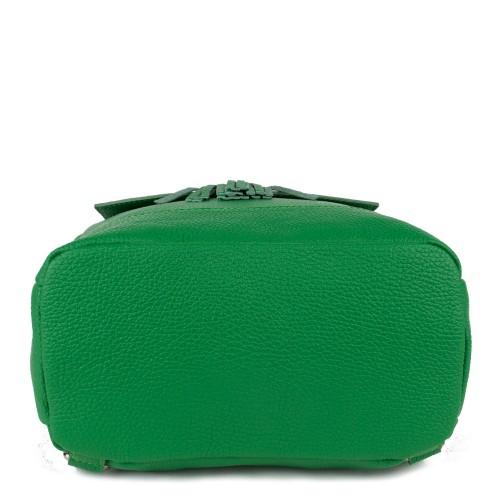 Rucsac piele verde cu ciucuri GF779-  Rucsac dama