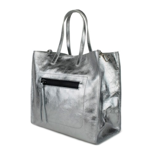 Geanta piele silver GF791