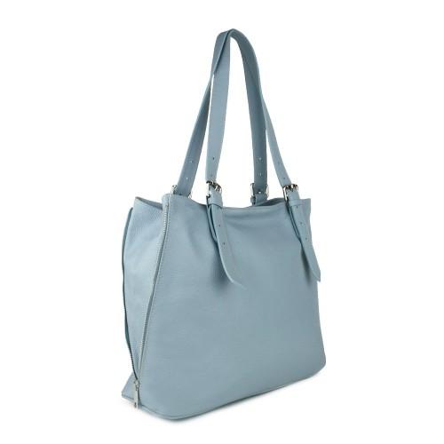 Geanta piele bleu GF800