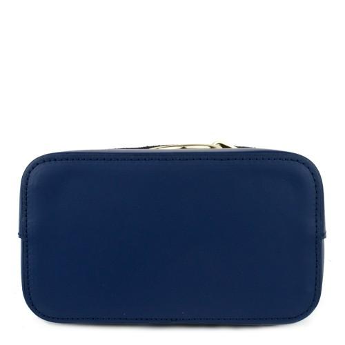Geanta piele bleumarin tip rucsac GF803