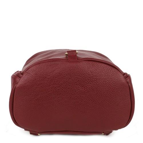 Rucsac piele naturala rosu inchis GF814