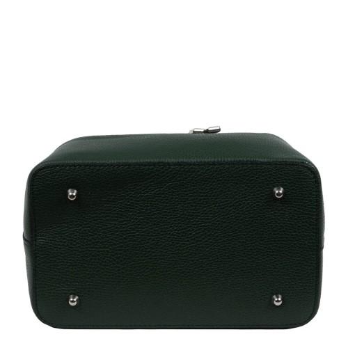 Geanta piele verde GF827
