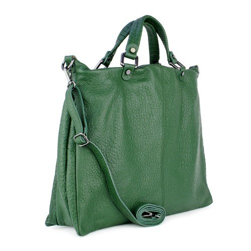 Geanta piele verde GF830