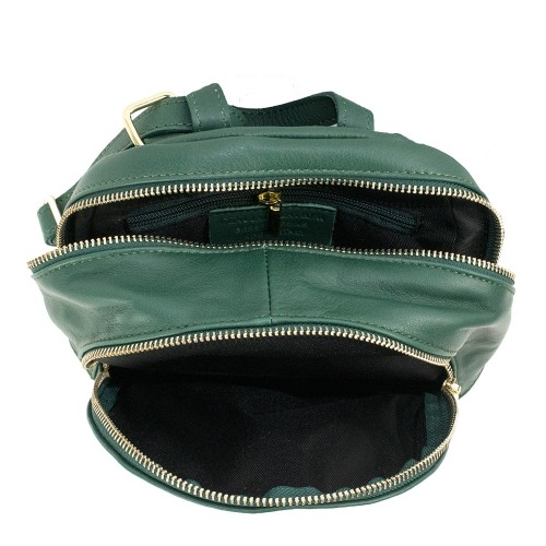 Rucsac piele verde inchis GF859