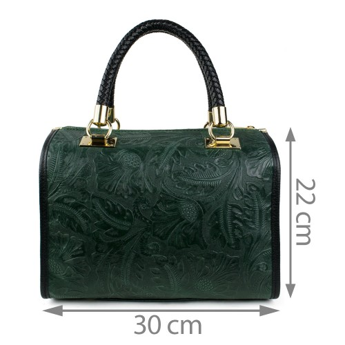 Geanta piele verde inchis GF864