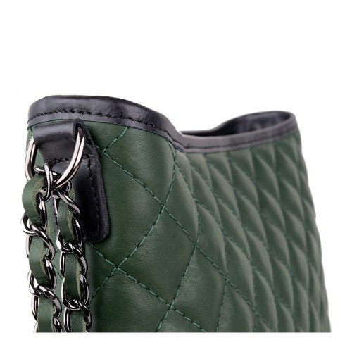 Geanta piele verde inchis matlasata GF872 Genti Dama