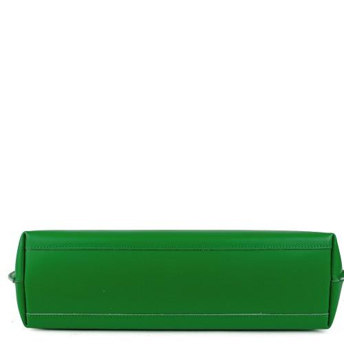 Geanta piele verde GF875