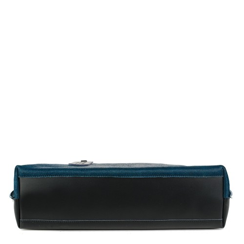 Geanta piele bleumarin cu negru par imprimat GF876