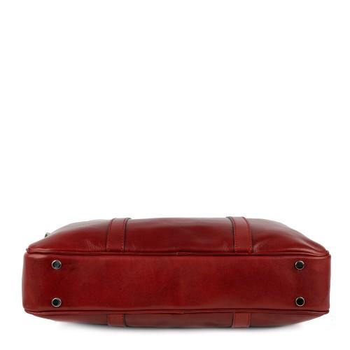Geanta piele rosu inchis tip servieta GF883 Genti Femei Genti Barbati