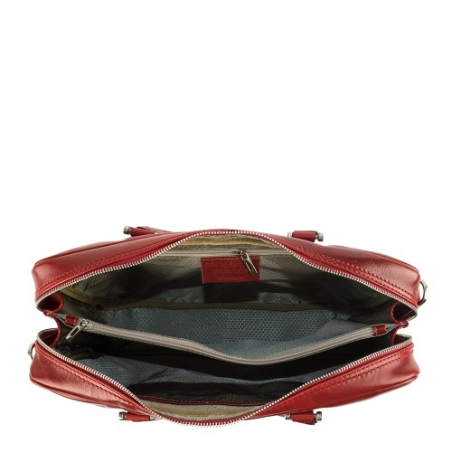 Geanta piele rosu inchis tip servieta GF883