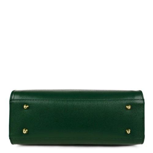 Geanta piele verde inchis GF884 Genti Dama