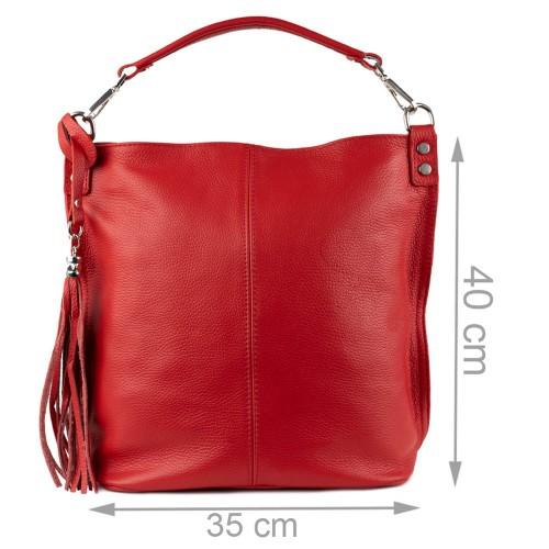 Geanta rosie piele naturala GF980