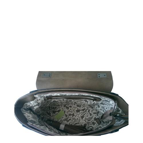 Geanta piele ecologica bej Model GFE016