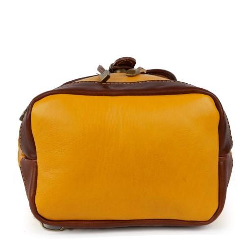 Rucsac dama galben oranj/cognac GF1011