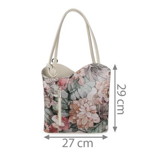 Geanta imprimeu flori mari GF1028