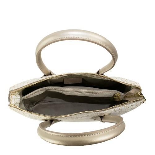 Geanta piele bronz imprimeu GF1034