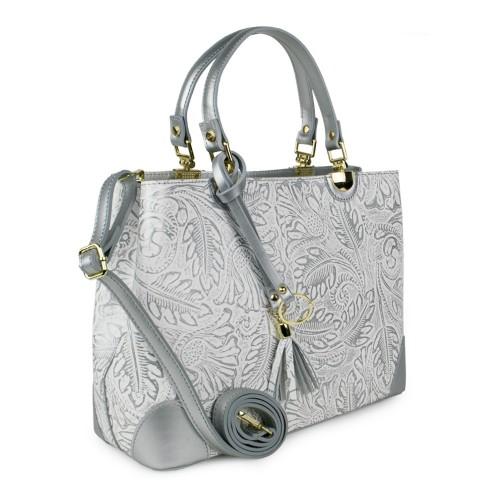 Geanta piele imprimeu silver GF1042