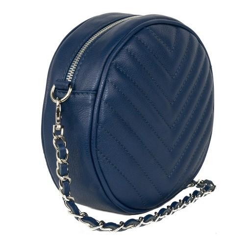 Gentuta dama piele albastru inchis GF1066
