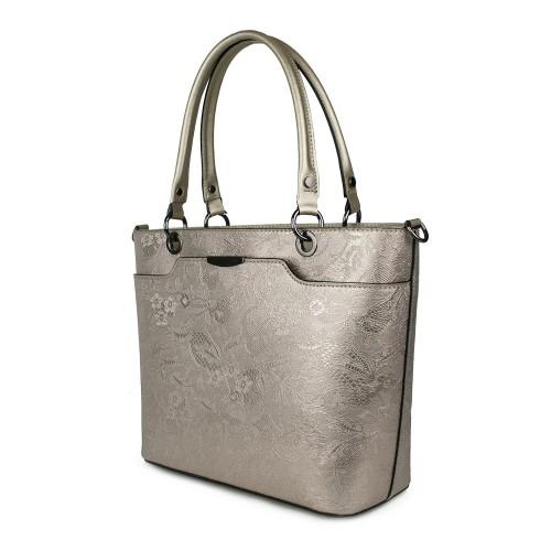 Geanta piele bronze imprimeu GF1073