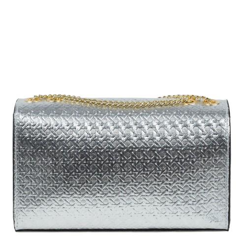 Gentuta din piele naturala argintie GF1096