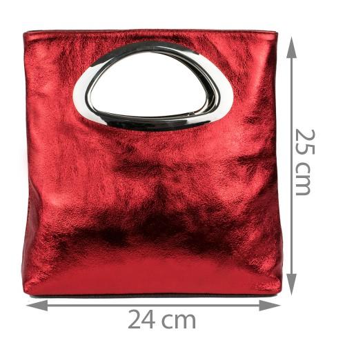 Gentuta piele rosie tip plic GF1104
