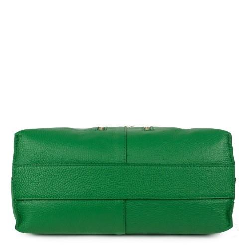 Geanta piele naturala verde GF1117