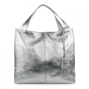 Geanta din piele silver GF1121