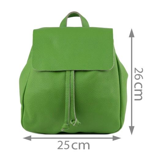 Rucsac piele naturala verde fistic GF1144