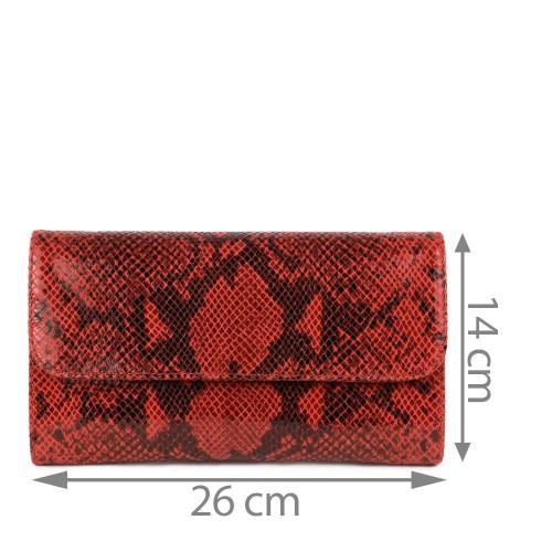 Plic piele rosu imprimeu sarpe GF1155