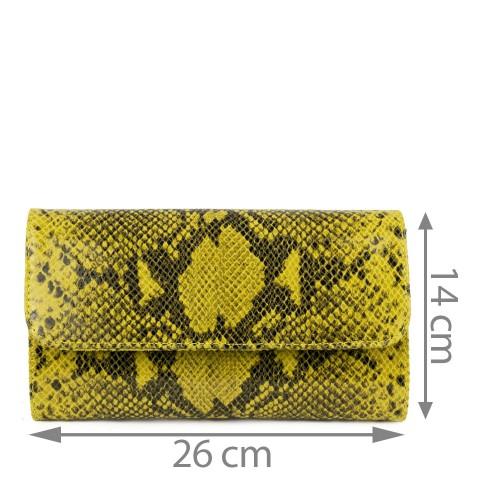 Plic piele galben imprimeu sarpe GF1156