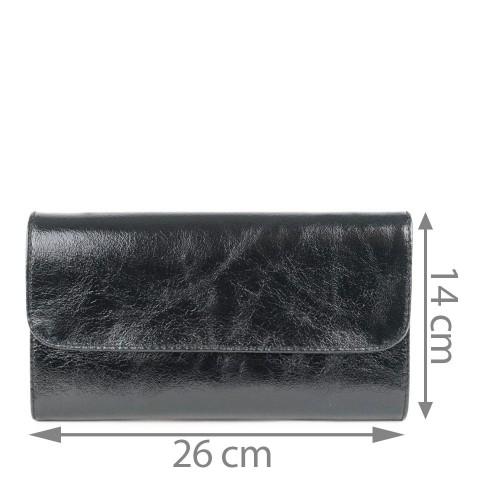 Plic piele negru sidefat GF1163