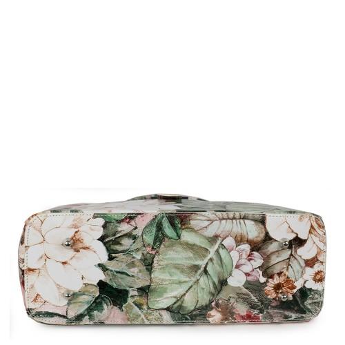Geanta piele cu imprimeu floral GF1172