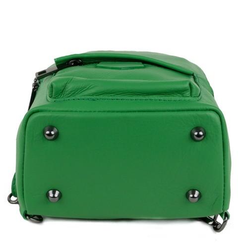Rucsac tip gentuta piele verde GF1178