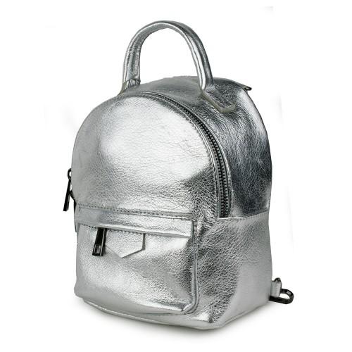 Rucsac tip gentuta piele silver GF1179
