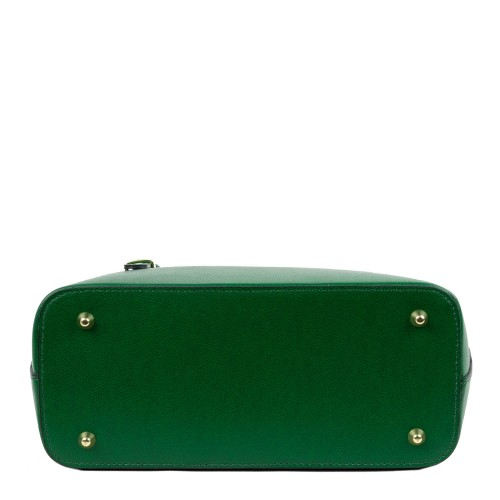 Geanta piele verde inchis GF1189