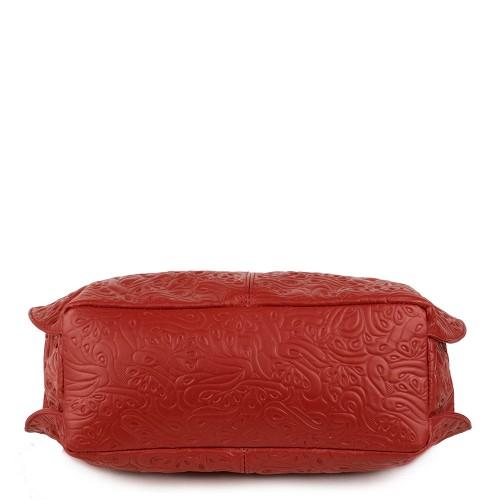 Geanta piele rosie GF1195