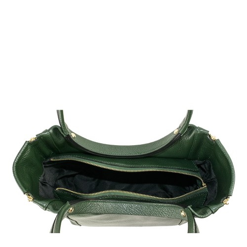 Geanta dama piele naturala verde inchis GF1215