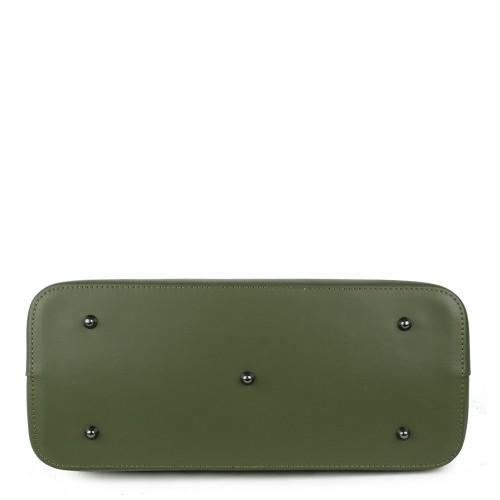 Geanta piele verde kaki GF1219
