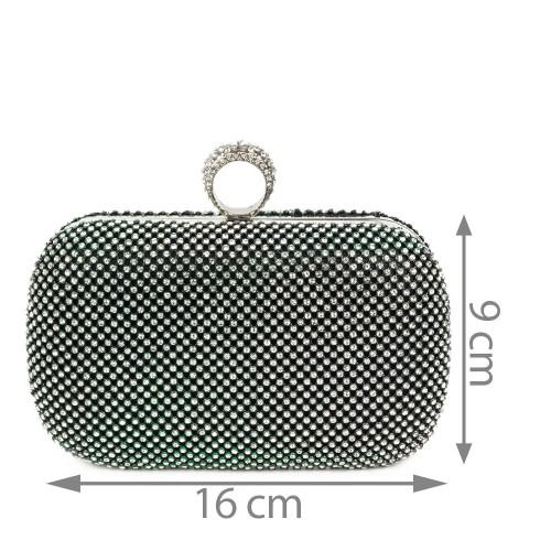 Plic negru cu strasuri GF1221